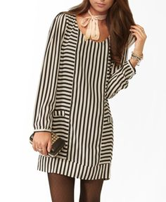 Mixed Stripes Shift Dress | FOREVER21 - 2081570967 with leggings for Spain?