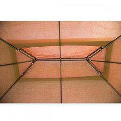 New Outdoor Gazebo Steel frame Vented Garden Gazebo Canopy Gazebo Canopy, Garden Canopy, Patio Gazebo, Garden Gazebo, Backyard Patio, Hexagon Gazebo, Outdoor Gazebos, Fabric Canopy
