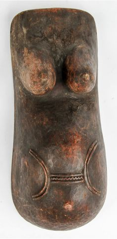 Africa | Body mask from the Makonde people of  Tanzania and Mozambique | Wood