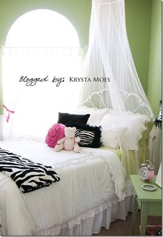 Girls Bedroom (Green) - Click image to find more Home Decor Pinterest pins