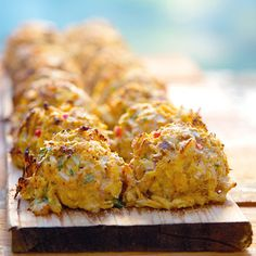 planked crabcakes with thai cucumber relish. sadie + stella: Let's walk the plank.