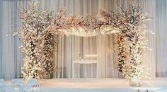 Spring Blossom Arch for Ceremony in Pink or Ivory Cherry Blossom available NOW @idesignevents