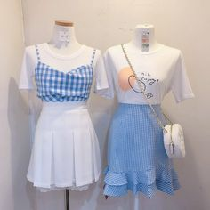 Kawaii Fashion, Cute Fashion, Asian Fashion, Cute Casual Outfits, Pretty Outfits, Aesthetic Fashion, Aesthetic Clothes, Jugend Mode Outfits, Vestidos Vintage