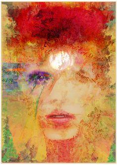 by Czar Catstick - Ziggy. Edition 'Stardust' - Abstract Expressionist David Bowie, Cotton Photorag Image size approx New Edition, Part. Fat Art, Ziggy Stardust, Lowbrow Art, Print Artist, Fine Art Gallery, David Bowie, Paintings For Sale, Amazing Art, Original Artwork