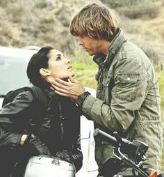 NCIS LA: the way he holds her face & the look she gives him <3 #densi