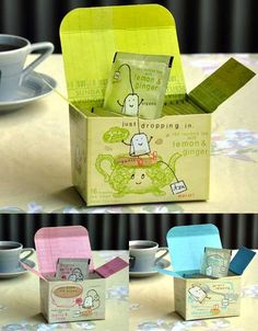 Blue Q tea packaging