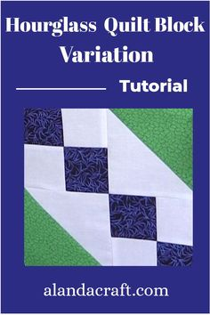 Learn how to make this variation to an Hourglass Quilt Block. Our step by step tutorial shows you how to make this quilt block for your quilting projects. Quilting For Beginners, Quilting Tutorials, Quilting Projects, Quilting Designs, Quilt Square Patterns, Pattern Blocks, Square Quilt, Quilt Blocks Easy, Easy Quilts