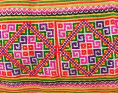 Hmong Cross stitched Ethnic Embroidered by TaTonYon, would love to try a cross stitch lesson!