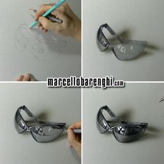 Marcello Barenghi: My sunglasses - drawing phases