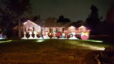 Beautiful houses . This spirit is great Christmas  lights on candycane lane