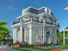 Mẫu thiết kế biệt thự cổ điển cho chị Dương tại Hà Nội|Biệt thự cổ điển đẹp nhất