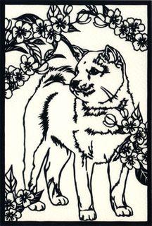 Dog, papercut