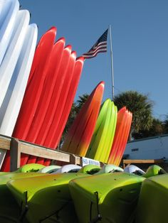 Kayaks on the Dunedin Causeway Honeymoon Island, Tampa Bay Area, Clearwater Beach, Kayaks, Palm, Florida, Building, Outdoor Decor, Home Decor