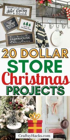 20 DIY Farmhouse Dollar Store Christmas Ideas