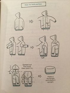KonMari How to Fold Parkas and Turtlenecks