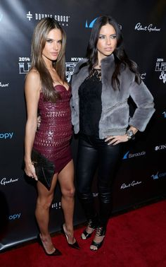 """Adriana Lima & Alessandra Ambrosio – 11th Annual """"Leather & Laces"""" Party in New York"""