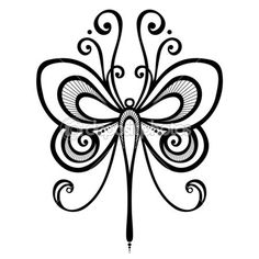Illustration about Vector Beautiful Dragonfly, Exotic Insect. Illustration of ornaments, scroll, icons - 34189044 Small Butterfly Tattoo, Butterfly Drawing, Butterfly Illustration, Monarch Butterfly, Cuadros Diy, Laser Art, Dragonfly Art, Butterfly Template, Wood Burning Patterns