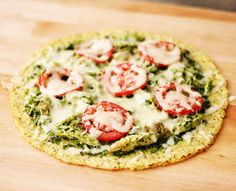 Chicken Pesto Pizza with a Cauliflower Crust