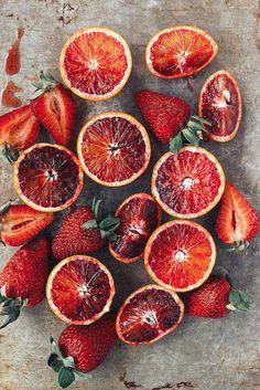 Blood Orange & Strawberries   TESSA BARTON