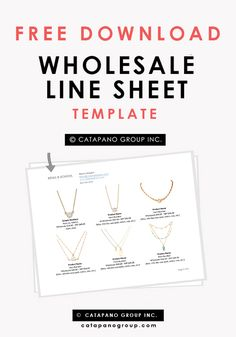 Wholesale linesheet template, Line Sheet template, product ...