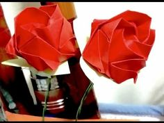 How to make an origami rose ♥ Origami rose instructions VERY EASY! Hey there! Our video is a tutorial on how to make an origami rose. This is the original or...