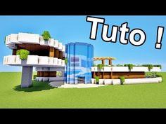 Villa Minecraft, Minecraft Mods, Cool Minecraft Banners, Plans Minecraft, Minecraft Building Blueprints, Modern Minecraft Houses, Minecraft Mansion, Minecraft House Tutorials, Minecraft House Designs