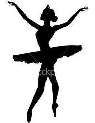 Silueta de bailarina de ballet.