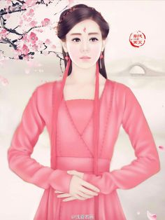迪热丽巴 三生三世十里桃花 浅夏若画绘 Chinese Culture, Chinese Art, Ancient Beauty, Peach Blossoms, Eternal Love, Fantasy Girl, These Girls, Asian Art, Art Girl