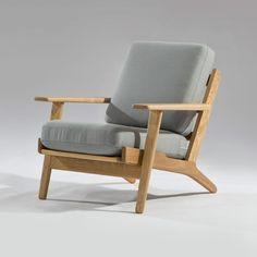 Wegner Style Plank Arm Chair