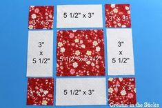 Sew Block Quilt Creatin' in the Sticks: 30 Quilt Blocks in 30 Days - Blocks 20 and Classic and Spot in a Quilt Top - I love combining quilt blocks for quilts and blocks 20 and 21 are great blocks to merge for a classic look. Quilt Square Patterns, Patchwork Quilt Patterns, Beginner Quilt Patterns, Quilting Tutorials, Pattern Blocks, Square Quilt, Quilting Projects, Quilting Patterns, Loom Patterns