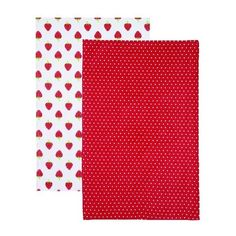 Kitchen Craft Home Strawberry Set of 2 Tea Towels ($10) ❤ liked on Polyvore featuring home, kitchen & dining, kitchen linens, twin pack, cotton kitchen towels, cotton tea towels, kitchen craft and strawberry kitchen towels