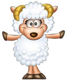 Transparent Cute Sheep Clipart