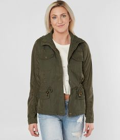 Ashley Pieced Canvas Jacket - Women's Coats/Jackets in M Olive | Buckle