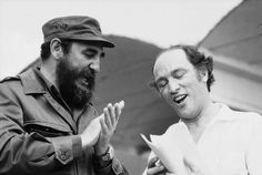 Two former leaders: Cuba's Fidel Castro with Canada's Pierre Elliot Trudeau