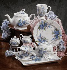 Forget-Me-Not Fine Bone China Tea Set