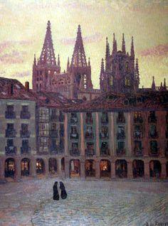 Darío de Regoyos y Valdés - Catedral de Burgos, atardecer