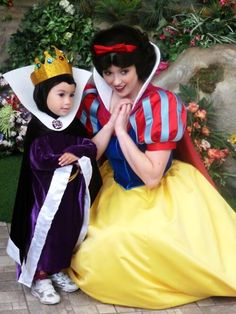 Snow White [feat. Evil Queen Grimhilde] (Mini-Me at Disney World) #SnowWhiteAndTheSevenDwarfs