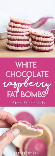 White Chocolate Raspberry Fat Bombs | The Everyday Ketogenic Kitchen | keto recipes | paleo recipes | dairy-free recipes | sugar free recipes | low carb recipes