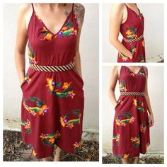 1970s Tropical dress by Eeni Meeni size XSS by shopvintageclectic, $25.00