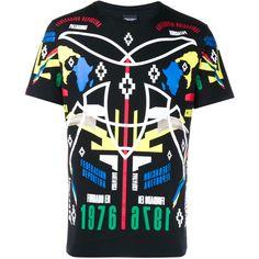 MARCELO BURLON Cotton 1976 T-shirt (4701145 BYR) ❤ liked on Polyvore featuring men's fashion, men's clothing, men's shirts and men's t-shirts