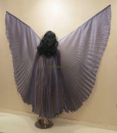 Cute Gray Taffeta Bellydance Costume ISIS WINGS by isisbazaar, $21.00