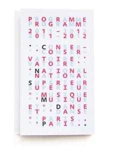 Conservatoire national supérieur de musique et de danse de Paris Programme 2011-2012 2011  By Philippe Apeloig