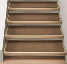 Exceptional Endearing Stair Treads Carpet For Interesting Stair Flooring Ideas: Nice  Brown Stair Treads Carpet For
