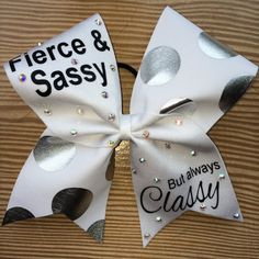 Cheer Bow Fierce and Sassy But Always Classy by CarleysBows