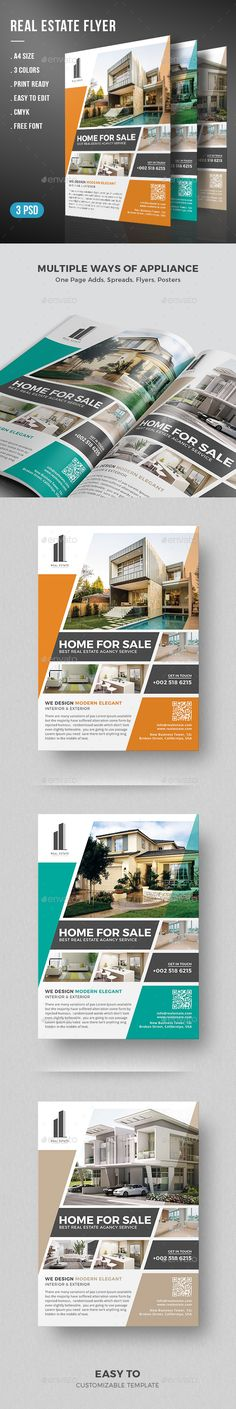 Real Estate Flyer Template PSD. Download here: http://graphicriver.net/item/real-estate-flyer/15279388?ref=ksioks