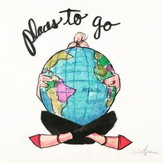 Places to go - cute illustration