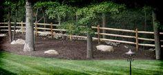 Wood Fence - 3 Rail Split Rail