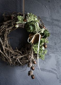 Natural Christmas wreath Broste Copenhagen