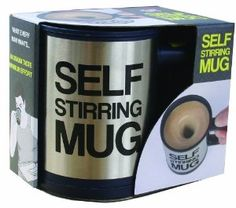 JUST £3.10 !!!! WHO DOES NOT NEED ONE OF THESE  SELF STIRING MUG Baddie, Literacy, Lazy, Self, Lipstick, Stainless Steel, Mugs, Hipster, Friends