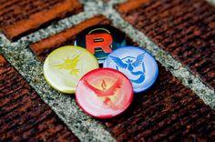 "Pokemon Go Metallic Team Logos Instinct/Mystic/Valor (1.25"" Pin back Button)"